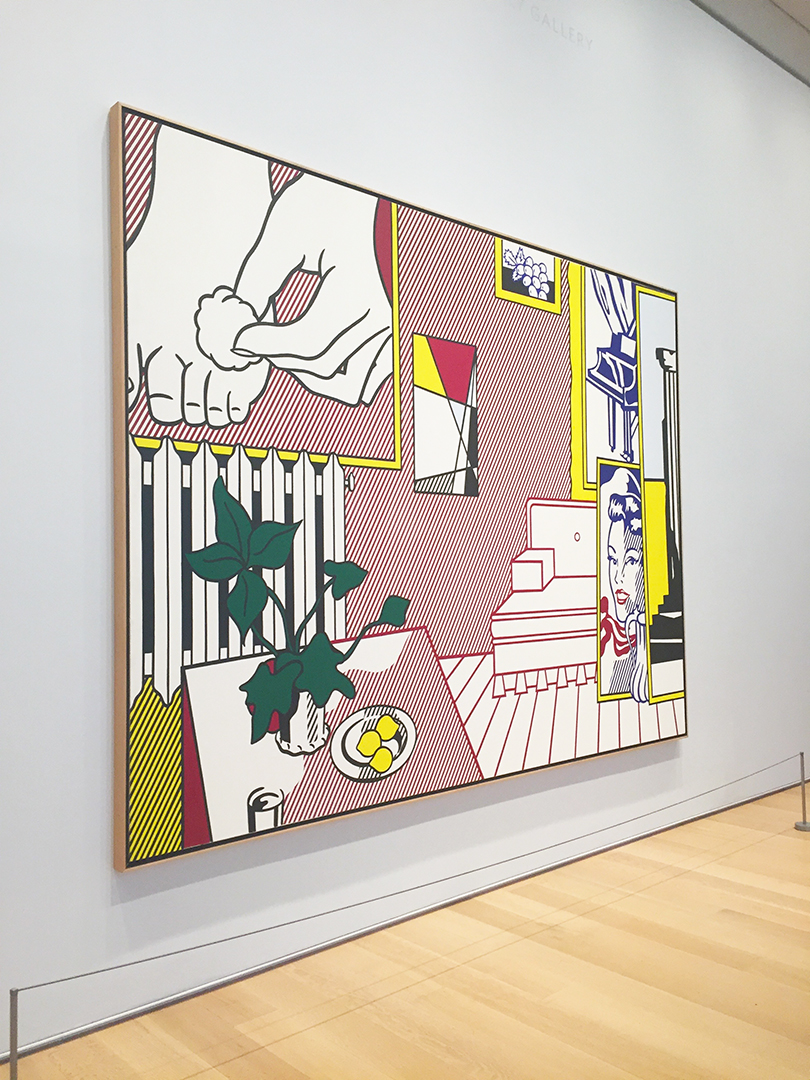 "Artist's Studio: ""Foot Medication"", 1974. Roy Lichtenstein."