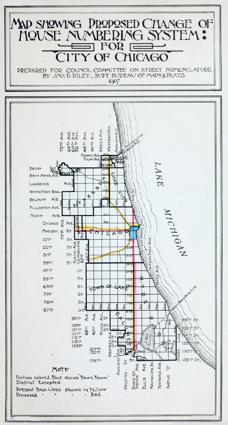1907 Chicago Street Map