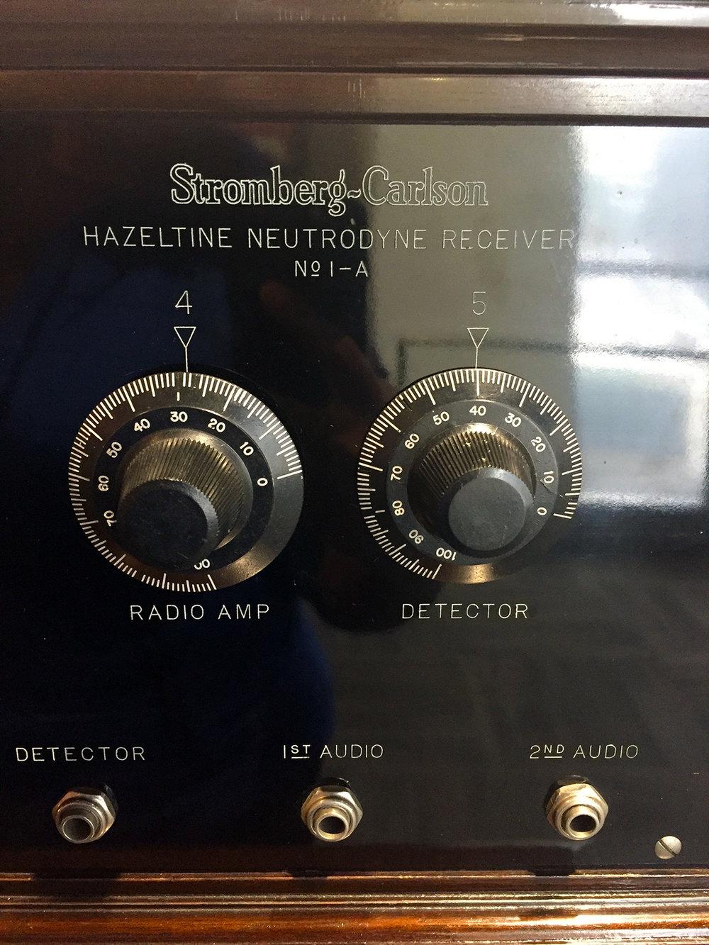 Stromberg-Carlson Hazeltine Neutrodyne Receiver Dial