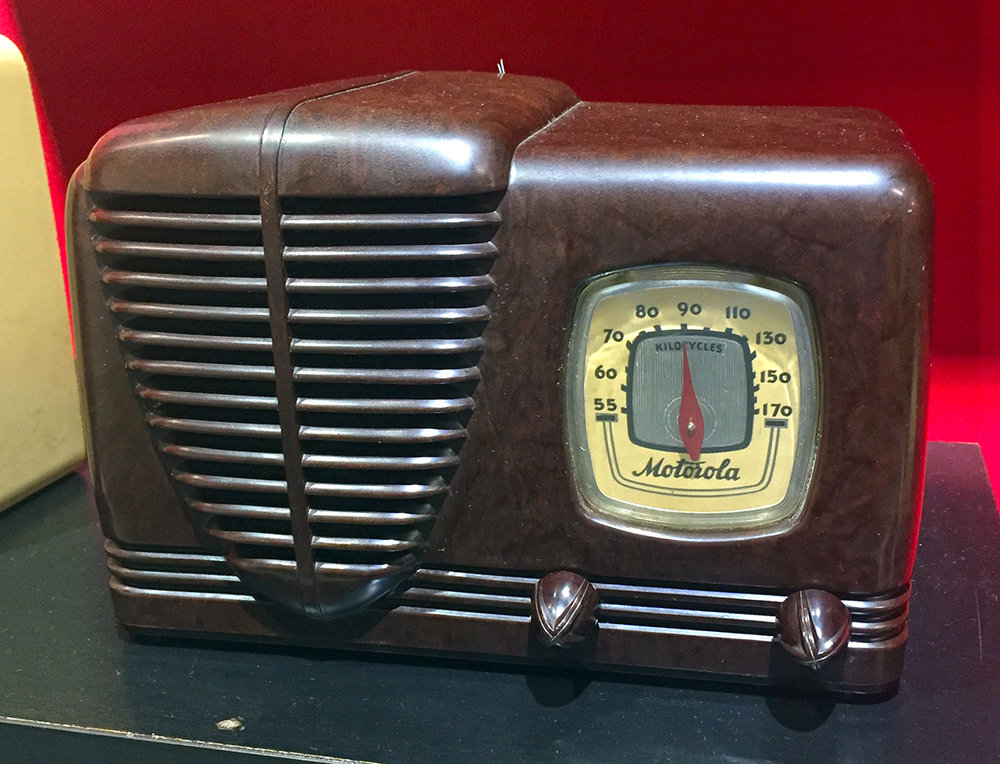 Motorola Radio - Wood