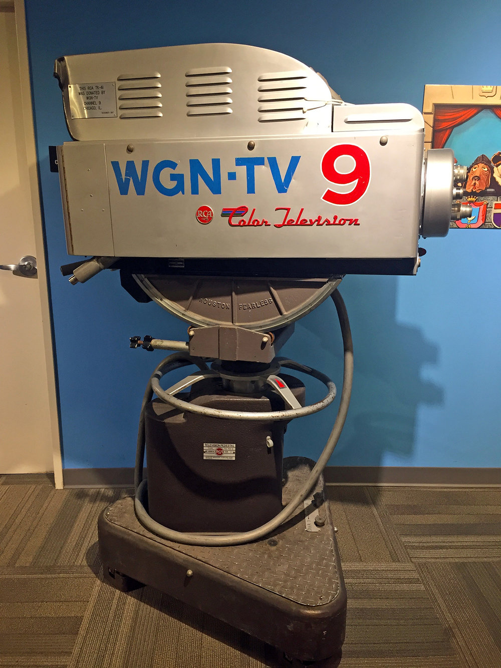 WGN-TV Channel 9 TV Color Camera