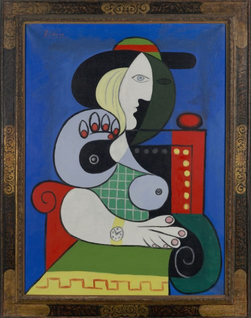Pablo Picasso: Femme à la montre (Woman with a Watch), 1932. Oil on canvas. 51 ¼ x 38 inches. © 2018 Estate of Pablo Picasso / Artists Rights Society (ARS), New York