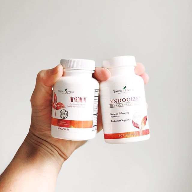 I was diagnosed with Hashimoto's 6 years ago. I don't let it define me and I use plants to support my body.  Two of my not-so-secret weapons.  Happy adrenals? Check.  Happy thyroid? Check.  Happy endocrine system? Yes. Yes. Yes.  Sidenote: When supplements are infused with essential oils, the bioavailability becomes even better!  #oilsforthewin