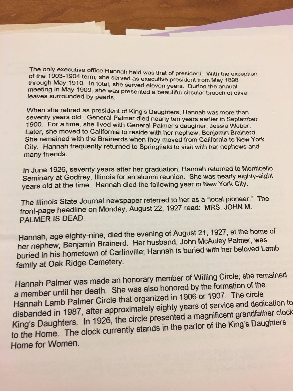 Hannah Palmer historical reflection.jpg