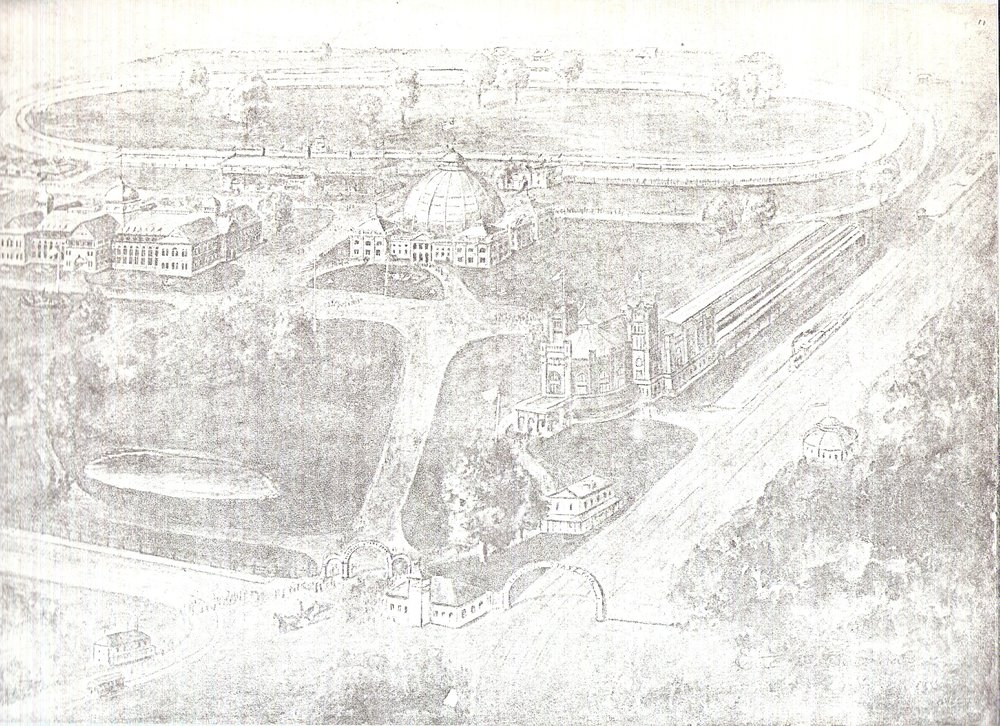 photos of gate 2 and Dome Bldg- with racetrack running east and west2.jpg