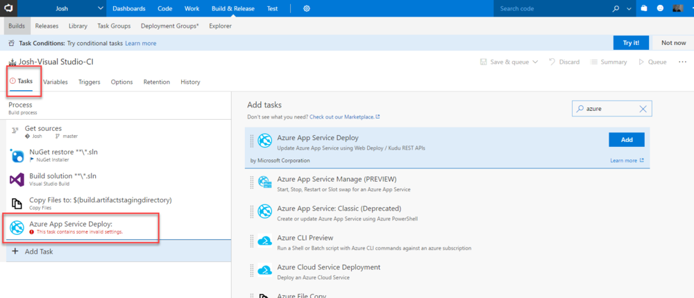 Visual Studio 2017 Tools for Azure Functions and Continuous
