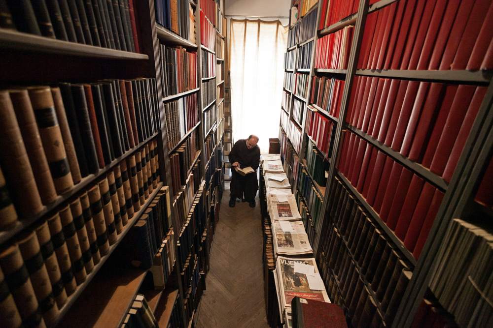 As well as teaching, Fra Ivan oversees his school's 60,000-book library and curates its collection of fossils, minerals and other natural specimens.