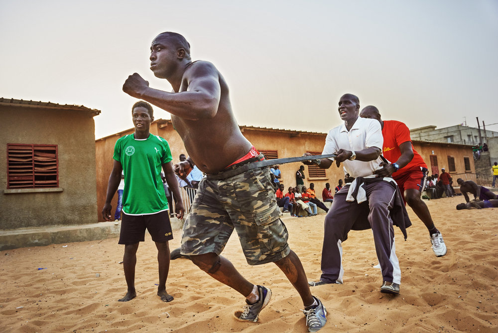 At Lac's school, wrestlers spend months training for fights, usually training for hours each day.