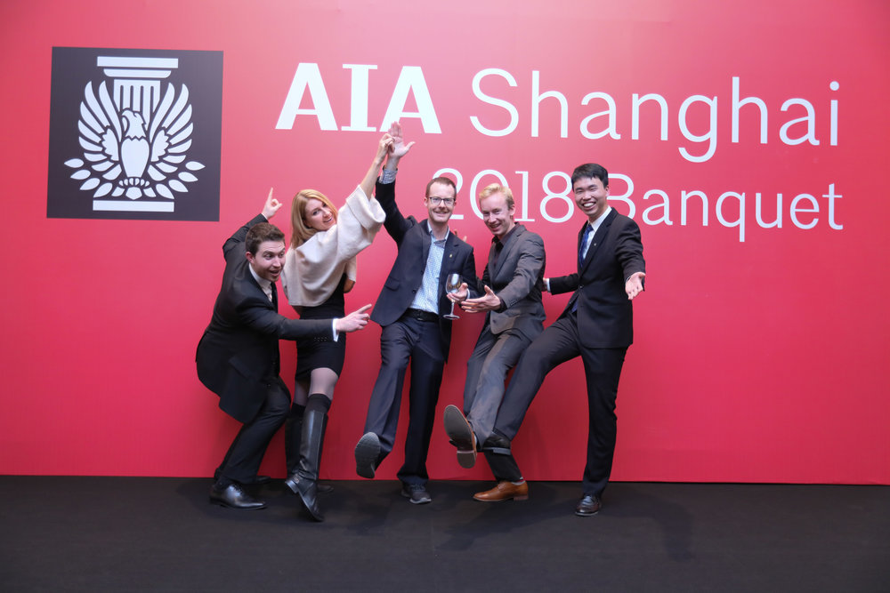 AIA Shanghai's communications team putting a little strut in their step.