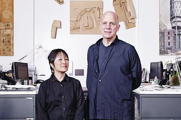 Billie Tsien (left) with her husband and partner Todd Williams