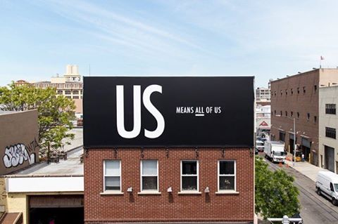 So excited to have our billboard right over the Brooklyn Queens Expressway! Check it out and visit  usmeansallofus.com to grab your shirt and support. . . . . . #usmeansallofus #billboard #brooklyn #queens #peace #shirt #love #unity #lovetrumpshate #respect #tolerance#diversity #together #unitedwestand #unitedstates #america #usa #us #resist #activism #humanrights #womensrights #lgbtrights #blacklivesmatter #nyt #nyc #design #graphicdesign #art #artwork