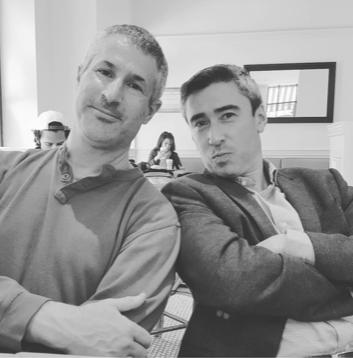 Adam Leffert (co-host) and John Haggerty in New York, 2017