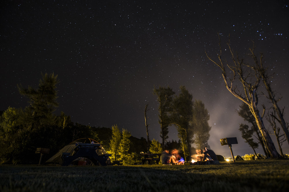 """I will never forget this night. Picture eating chicken and waffles one morning and afterwards randomly saying, """"We should go camping."""" And so, with zero planning and burning daylight hours, my friends and I decided to make the 2-hour drive to the camp grounds. It's sporadic moments like this in life that become the most memorable."""