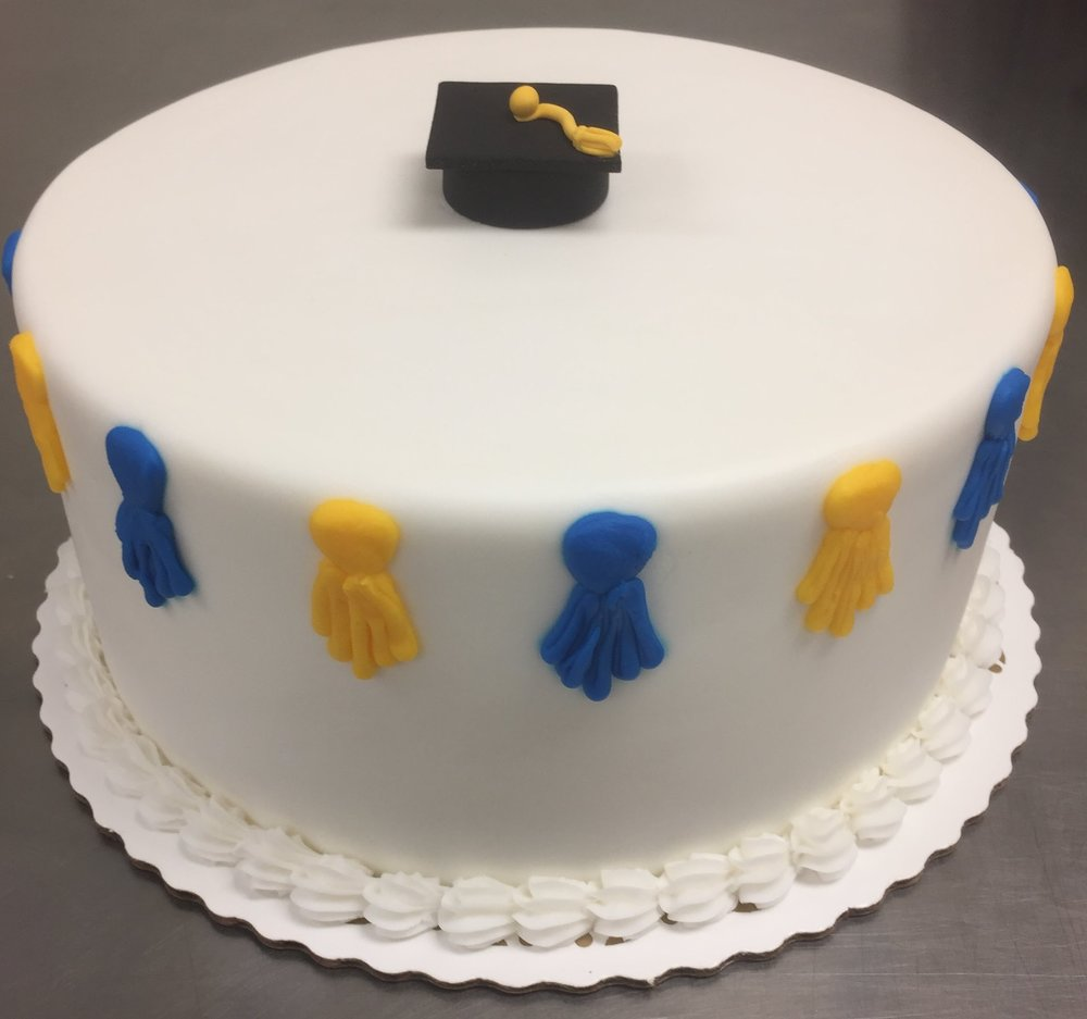 Cap & Tassels  (  Tassels on Buttercream with small fondant cap)