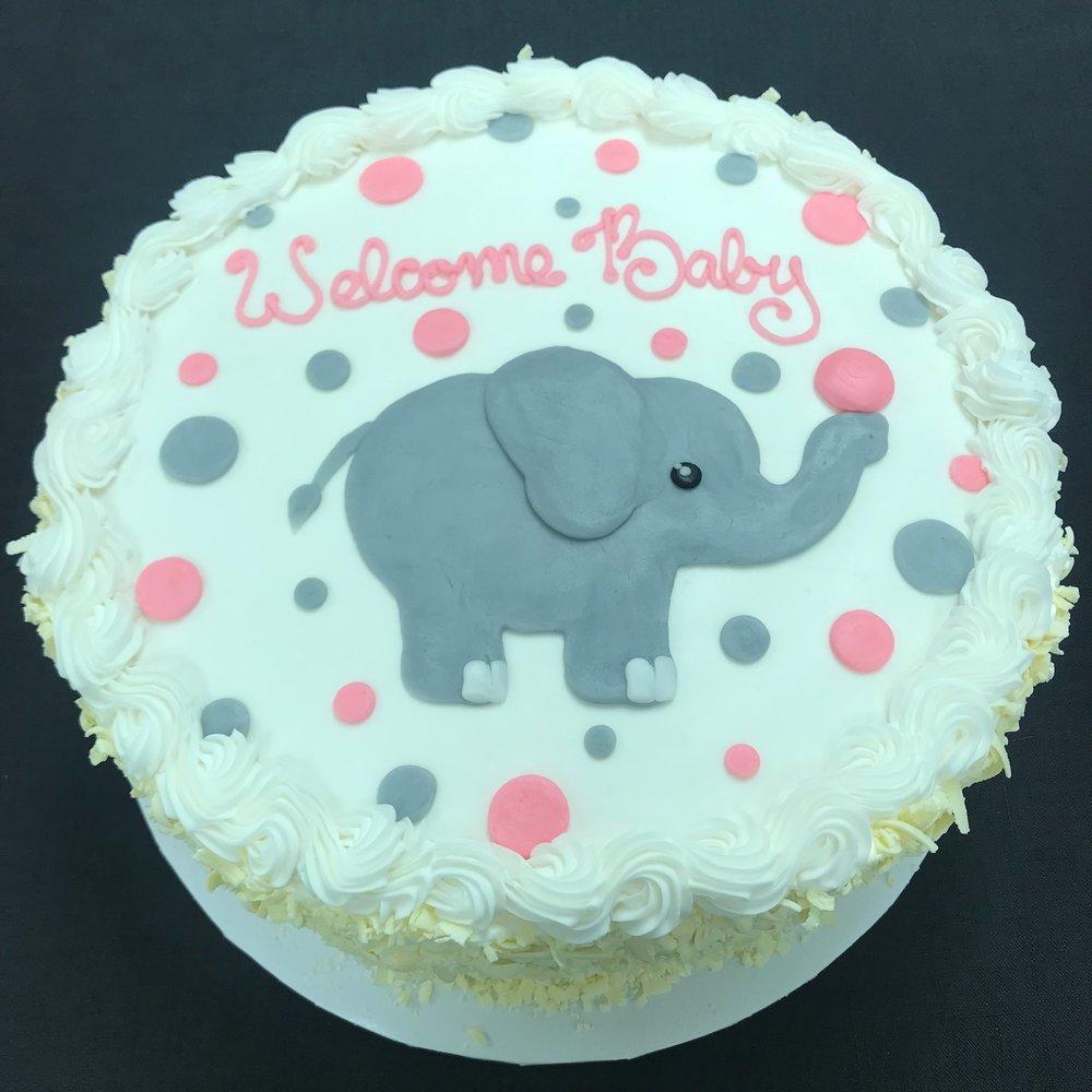 Baby Elephant and Polka Dots
