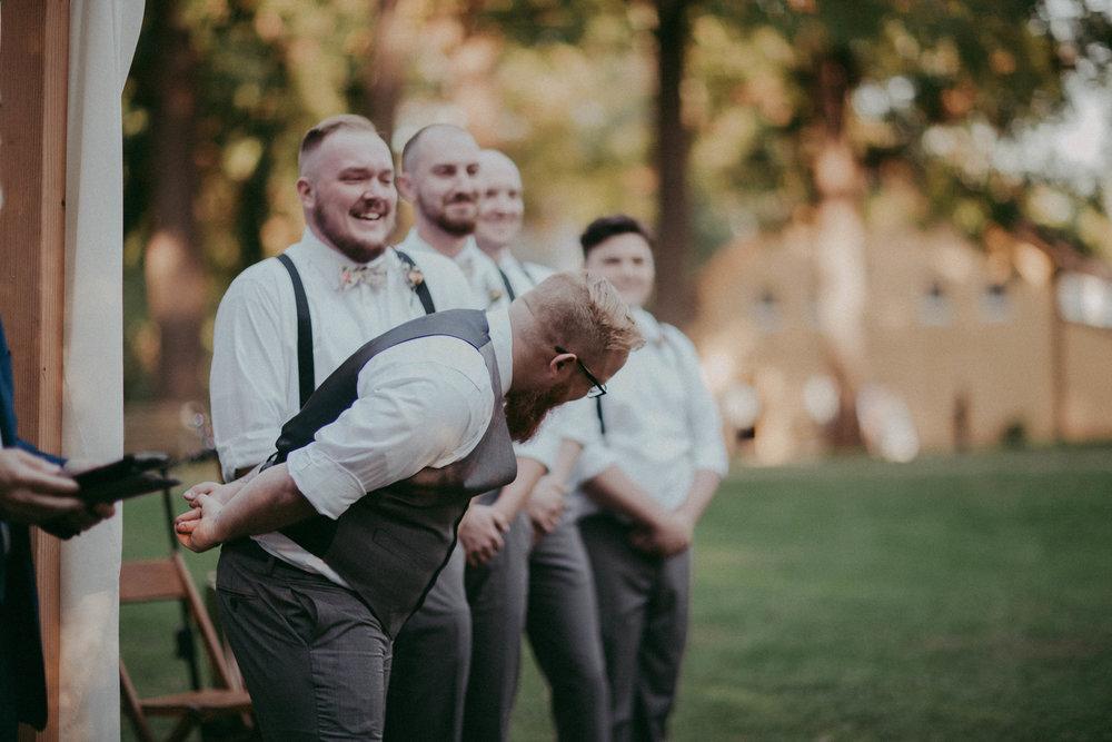 first look-groom