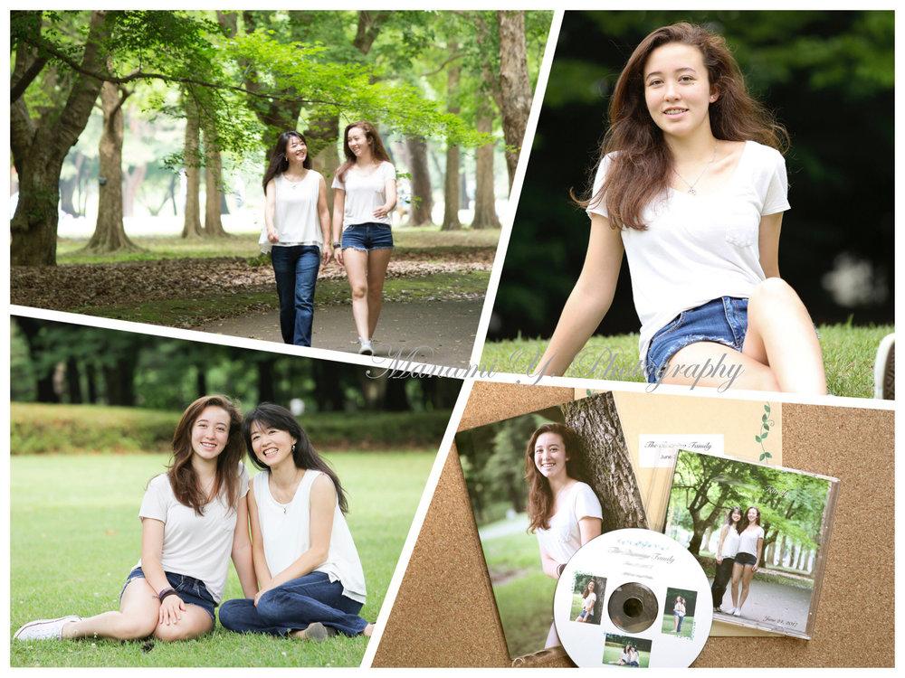 撮影の合間も終始笑顔⭐︎ 基本セット(右下):CD-R全データ、2Lプリント5枚(サービス)