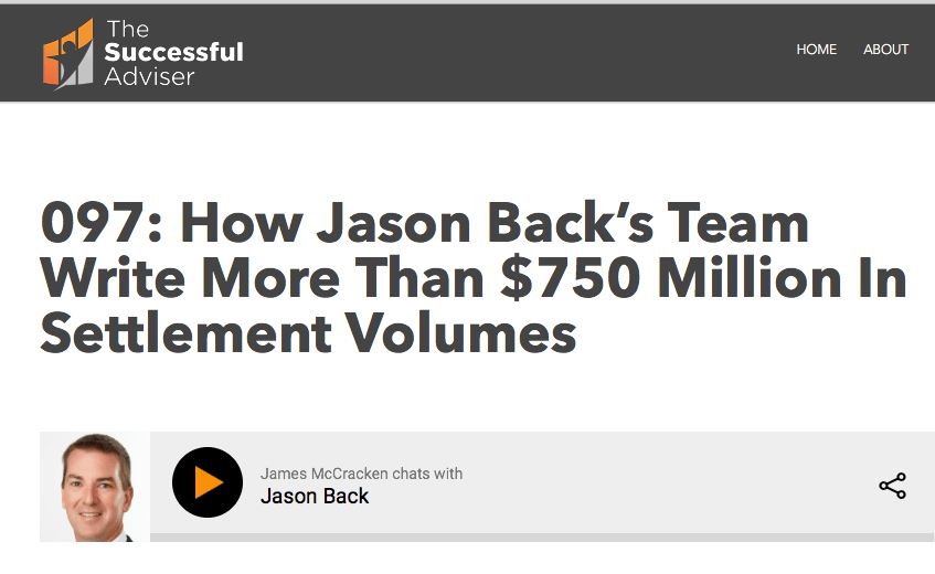 How Jason Back's Team Write More Than $750 Million In Settlement Volumes  So, during this interview, Jason generously shares some of his personal journey from his more than 20 years in the banking and finance sector, as well as many insights into how  ALIC  has become the high-performance business that we know it to be.