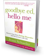 goodby ed, hello me     by Jenni Schaefer  (book signing at Mosaics of Mercy, 2018)