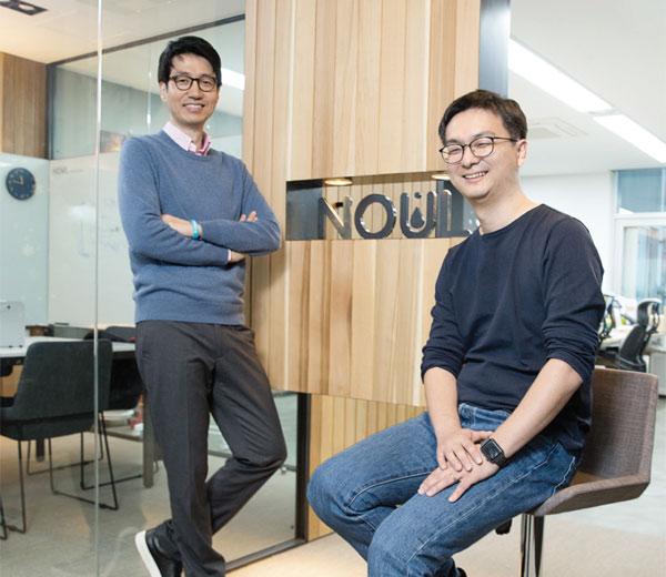임찬양(왼쪽), 이동영 공동 대표는 '많은 사람에게 혜택이 돌아가는 가치 있는 기술 개발'을 목표로 노을을 창업했다.