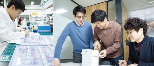 노을이 보유한 핵심 기술은 'LOC(Lab On a Chip)'로 요약된다. 실험실(Lab)을 간단한 칩(Chip)으로 만들었다는 뜻이다.
