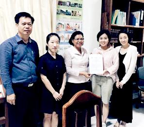 코이카-㈜노을-캄보디아 질병관리본부 3자 MOU 체결식