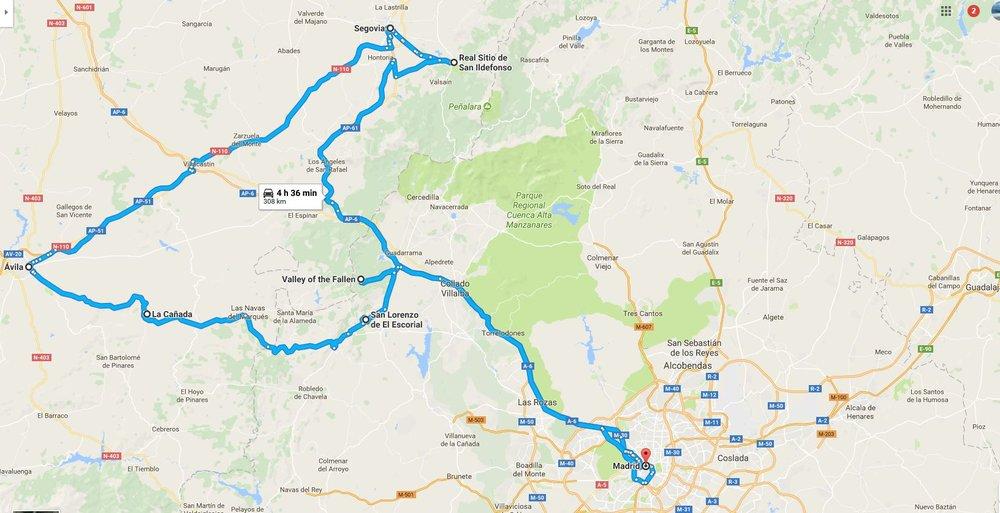 Avila to Segovia Strolling Earth