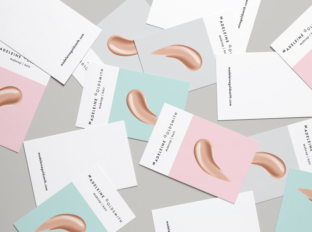 MADELEINE GOLDSMITH MAKEUP & HAIR   Logo and business card design.