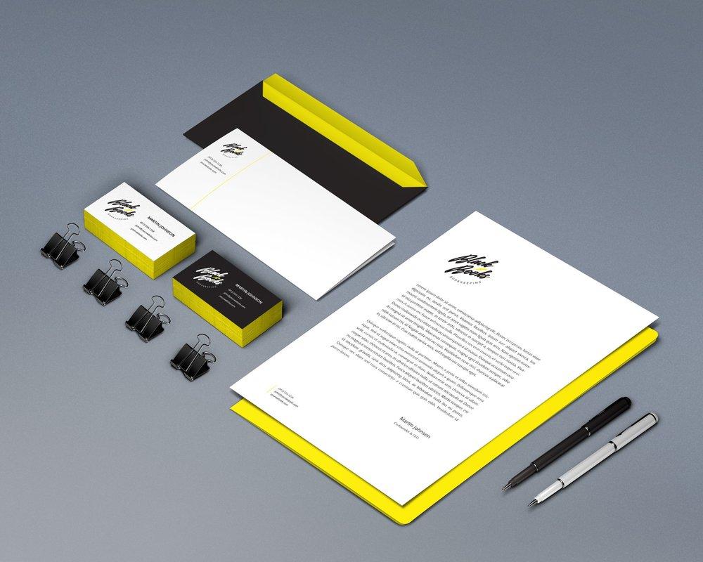BLACK BOOKS BOOKKEEPING  Logo design.