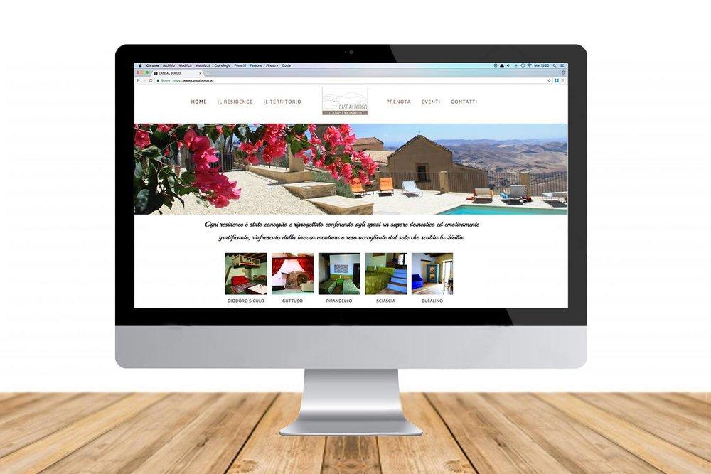 nuovo sito web residence case al borgo agira enna sicilia