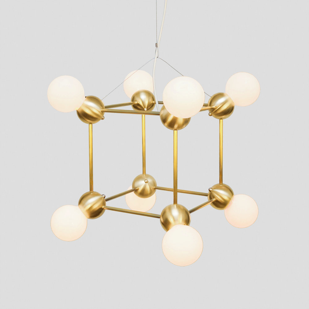 LINA 08-LIGHT CUBE CHANDELIER    See Lina series