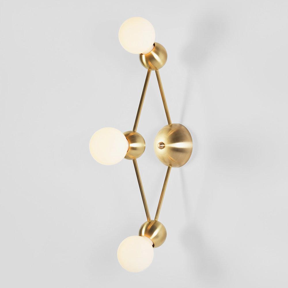 LINA 03-LIGHT DIAMOND SCONCE