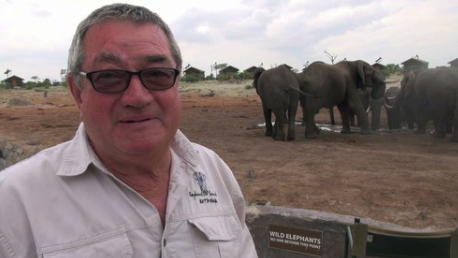 Ben Moller, Founder Ben Moller has lived in Botswana for 50 years, he arrived in 1967 and has been farming his entire life, in the early 2000's when the original plan was just to retire he fell in love with the elephants and that is how Elephant Sands started, and from then Ben saw that the elephants needed help with water and that is how the trust started.