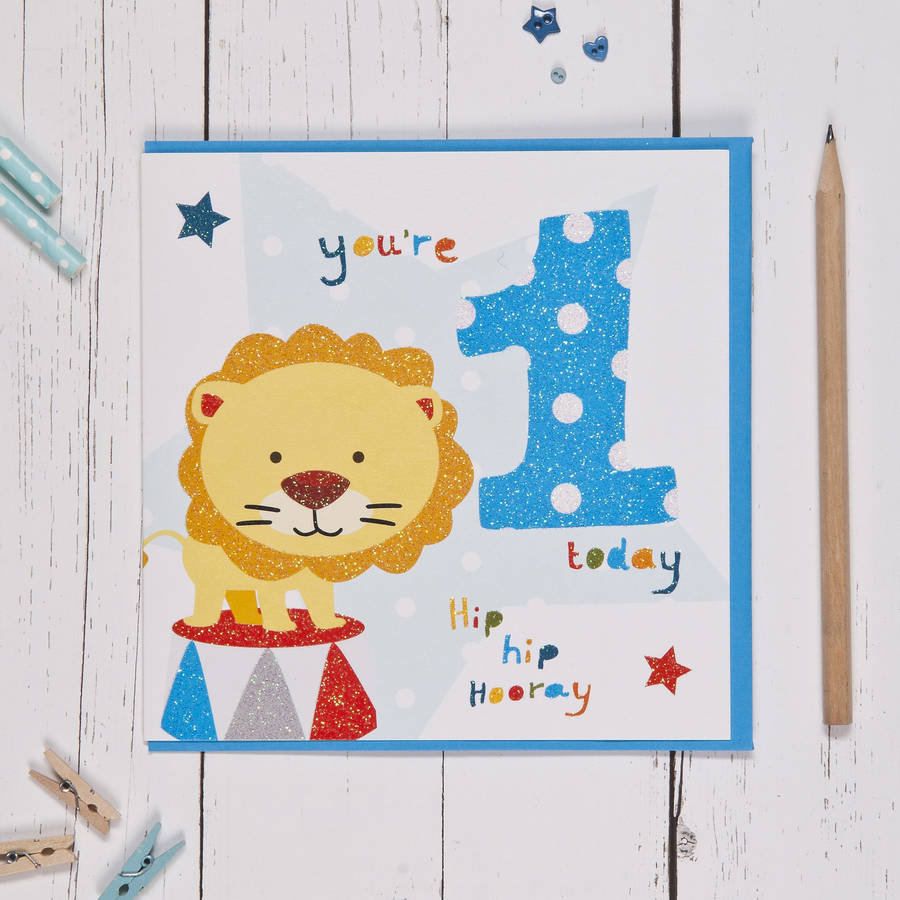 Fizz - Age 1 Birthday Card