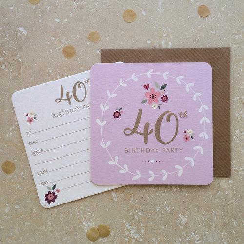 40th birthday party coaster invitations aliroo