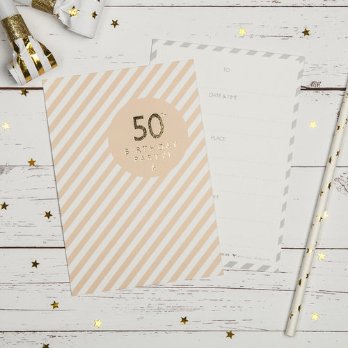 50th Birthday Party Invites 50