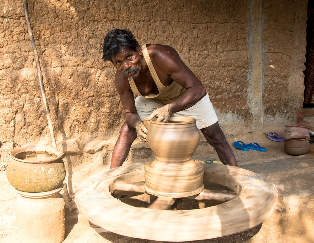 Clay Pot Maker at MASARD, Tamil Nadu, India.jpg