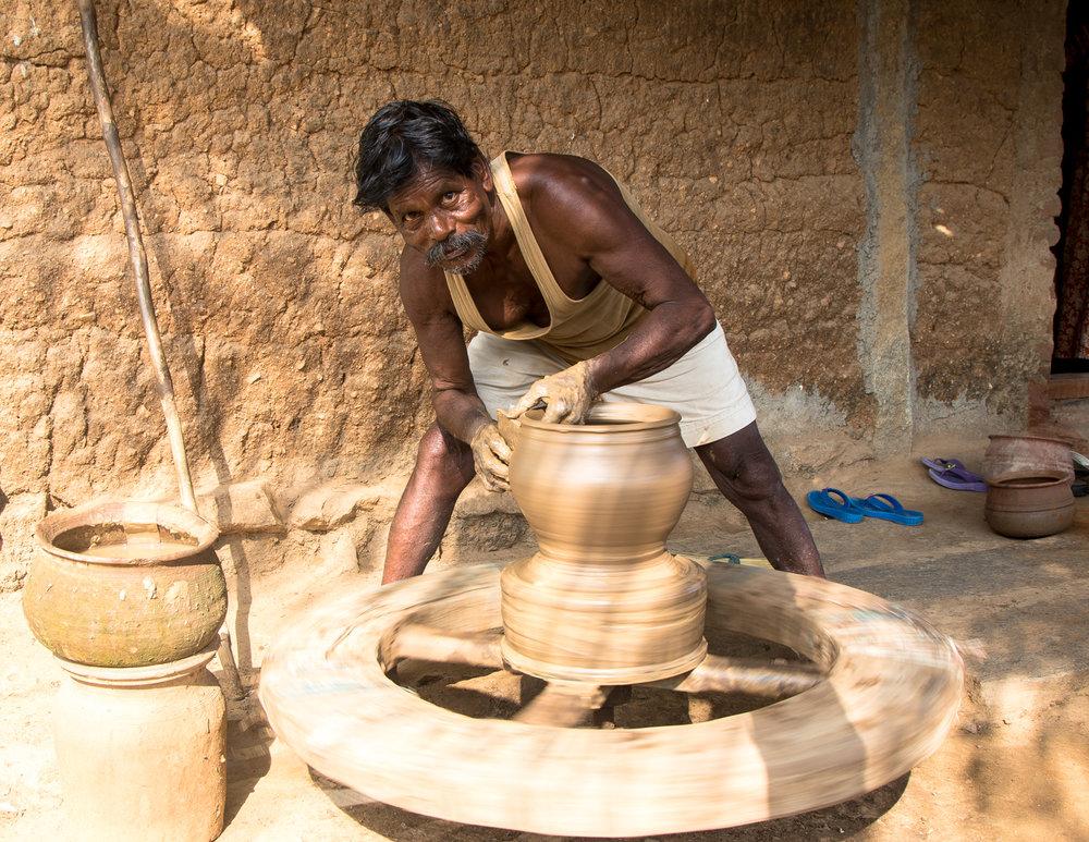 Clay Pot Maker at MASARD, Tamil Nadu, India.jpg