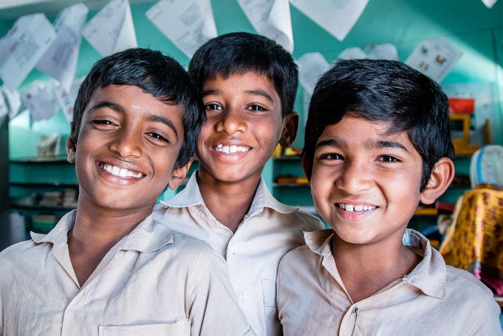 School Children from MASARD, Tamil Nadu, India