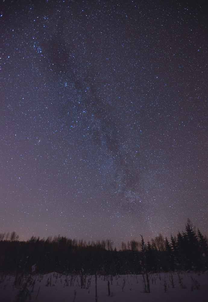 SIMK milky way over swedish countryside