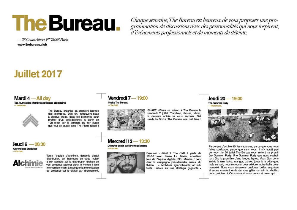 THE BUREAU JUILLET 2017