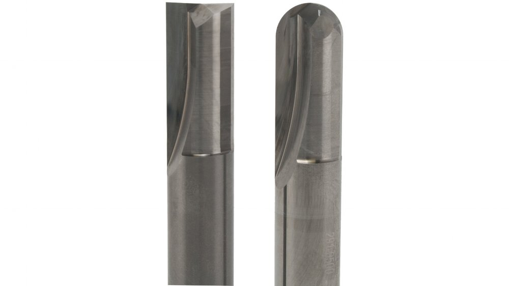 straight Flute - 2 Flute End MillMaximum Cutting Edge Strength For Hard Material Applications