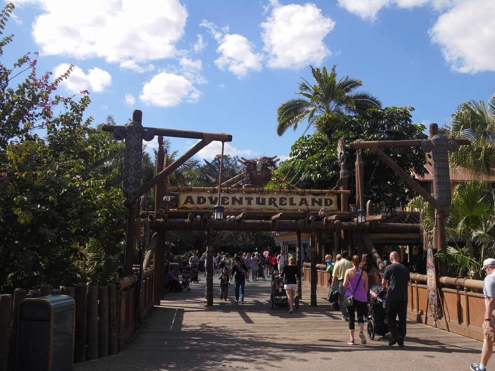 Entrance to Adventureland, Magic Kingdom