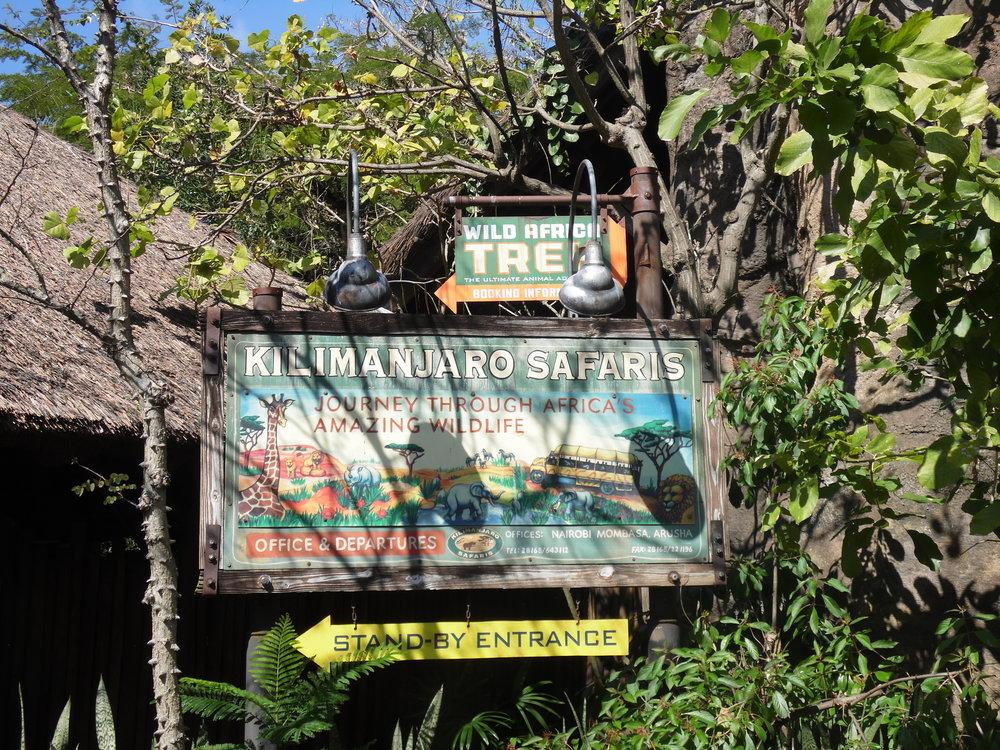 Kilimanjaro Safaris Entrance Sign