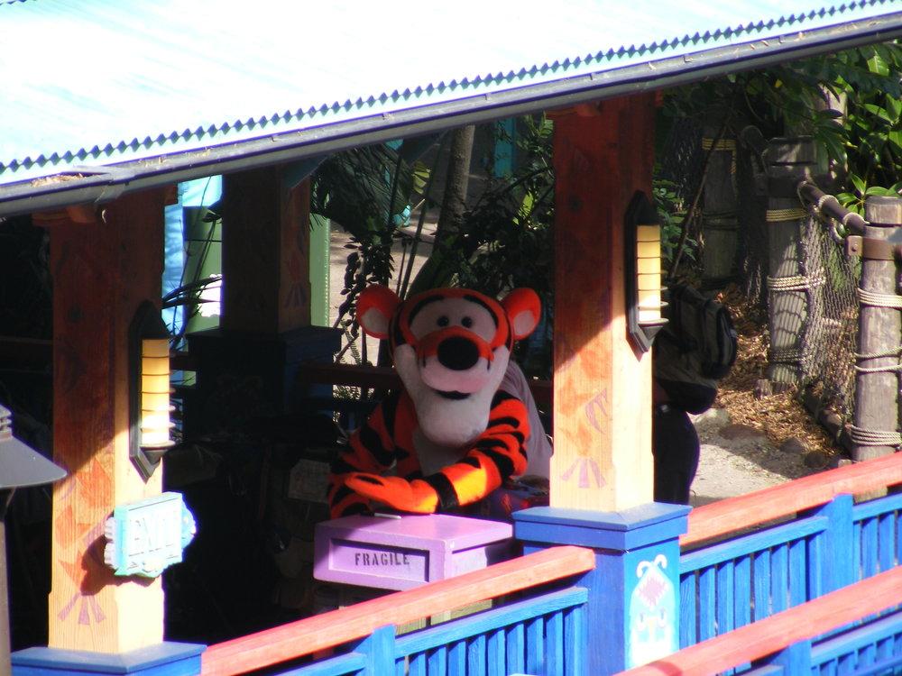 Tigger at Discovery Island Character Landing
