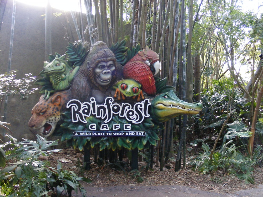 Rainforest Cafe Sign