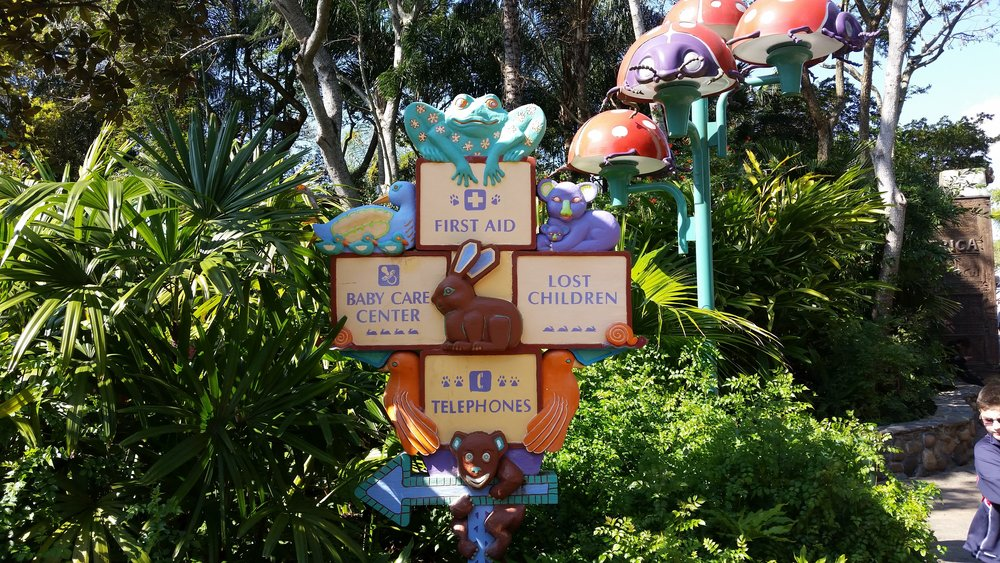 Animal KIngdom Baby Care Center/First Aid Signs