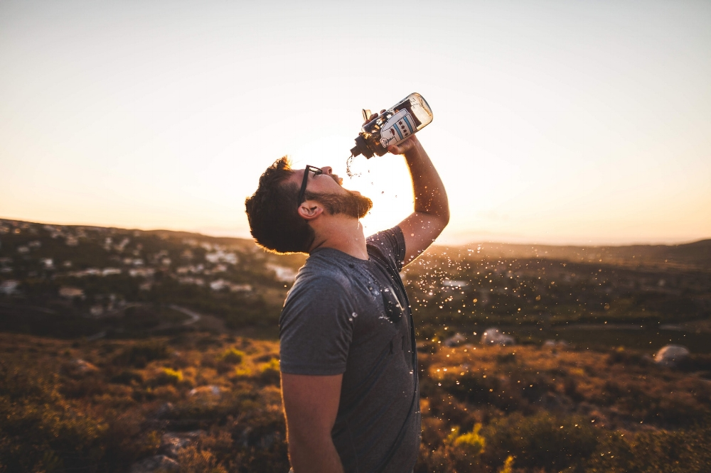 Proper fluids need to be readily available while being active outdoors.