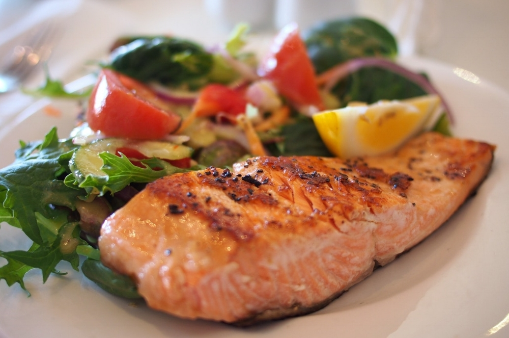 Your protein intake should come from a variety of sources, including fish, beef, chicken, beans, peas and chia seeds.