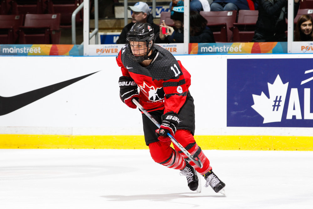 Team Canada player Jillian Saulnier says positive self-talk has helped her confidence, and her performance. (Hockey Canada Images)